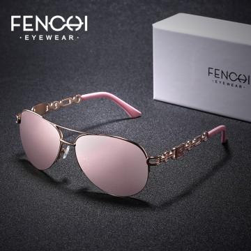 FENCHI Sunglasses Women Driving Pilot Classic Vintage Eyewear Sunglasses High Quality Metal Brand Designer Glasses Oculos De Sol32845064237