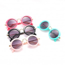 Glitztxunk 2017 Fashion Round Sunglasses Children Brand Designer Sun glasses Vintage Kids Glasses Eyewear UV400 Baby Sunglasses