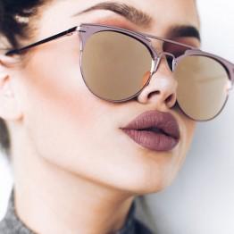 Luxury Vintage Round Sunglasses Women Brand Designer 2018 Cat Eye Sunglasses Sun Glasses For Women Female Ladies Sunglass Mirror