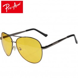 Pro Acme Aviation Night Vision glasses Driving Yellow Lens Classic Anti Glare Vision Driver Safety glasses For Men CC0101