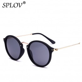 SPLOV 2018 New Arrival Round Sunglasses Retro Men women Brand Designer Sunglasses Vintage coating mirrored Oculos De sol UV400