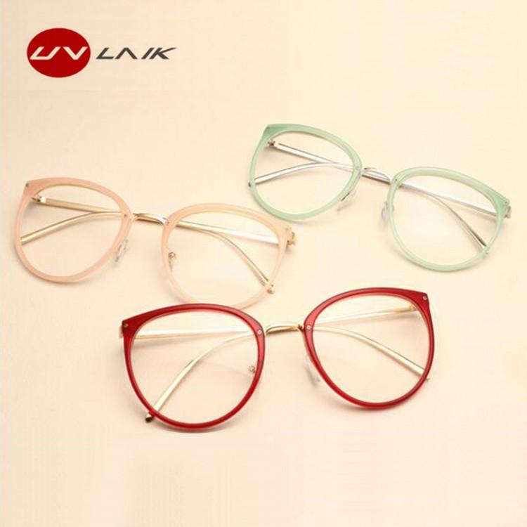 UVLAIK Fashion Optical Glasses Transparent Lens Myopia Eyeglasses ...