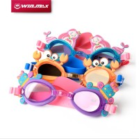 WINMAX New Arrival Cute Light  Anti fog Mermaid/Crab/Jellyfish Kids Glassess Swimming Goggles for Children Kid